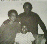 Tamekia Woods with her parents